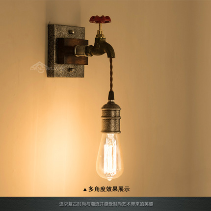 American Style Vintage Wall Lamp Edison Lamps Creative Metal Pipes Wall Light Cafe Bar Industrial Wall Lights Art Deco Lighting silver plating wall lamp loft retro edison indoor wall light for cafe bar metal industrial wall lights art deco lighting