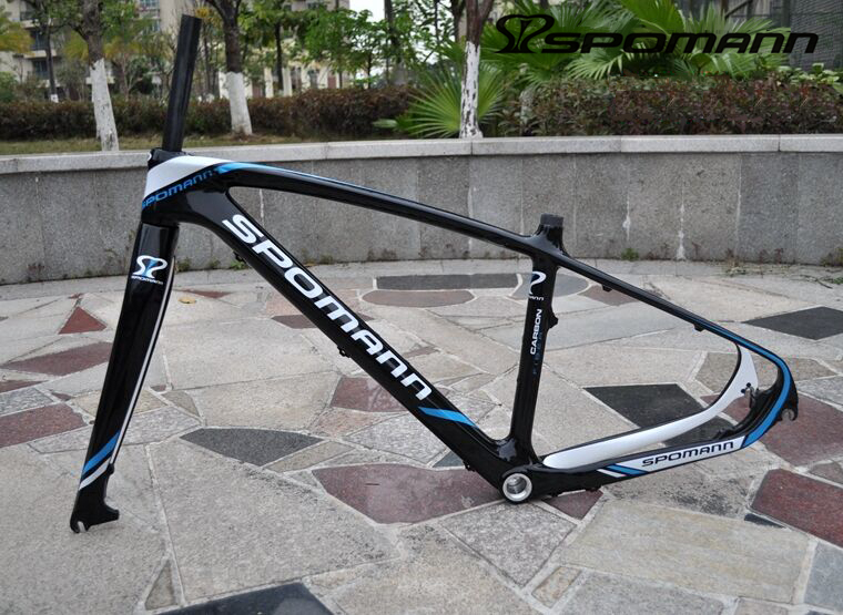 SPOMANN Full Carbon Mountain Bike Frame Disc Bicycle MTB Carbon Frame 27.5 ER Tapered Tube China Cadre Carbone Route Bike Parts