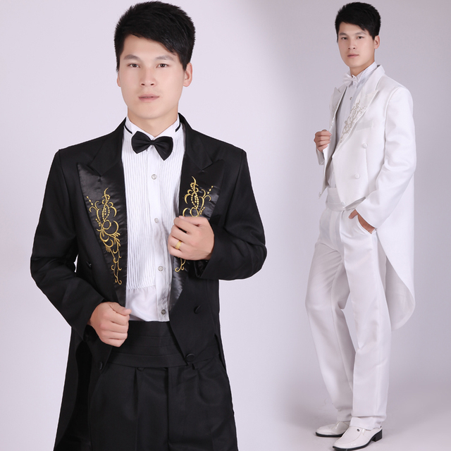 New 2017 Fashion Men Suits Tailcoat Tuxedo Prom Groom Wedding ...