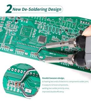 Pinzas de soldadura para reparación de BGA SMD, Mini estación de soldadura, enchufe de 110V/220V, UE/EE. UU./GB/AU, YIHUA 2