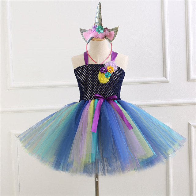 33e02d9ca Birthday Party Dresses Children Kids Clothes Baby Girls Dress ...