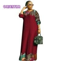 2018 new african dresses for women Fashion Design dashiki women bazin riche o neck long loose dress dashiki plus size 6xl WY2879