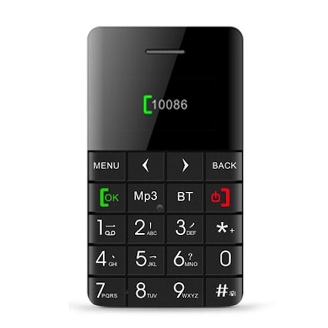 AEKU Qmart Q5 Mini Card Phone 0.96 inch OLED Unlocked Bluetooth 2G GSM Network Cellphone MP3 Russia Keyboard FM Remote capture