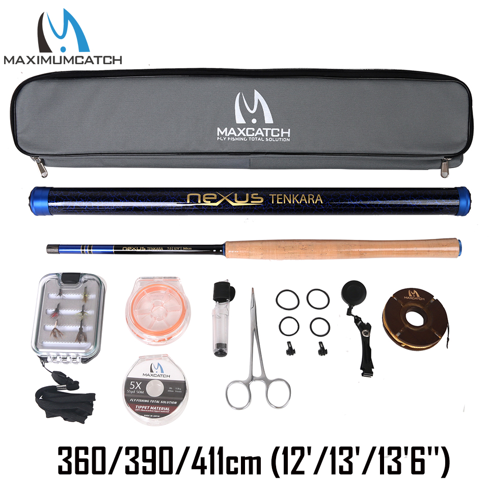 Maxcatch Tenkara Fly Rod Combo & Accessory Complete Kit Fishing Leader Line Flies Carry Case 12/13/136Maxcatch Tenkara Fly Rod Combo & Accessory Complete Kit Fishing Leader Line Flies Carry Case 12/13/136