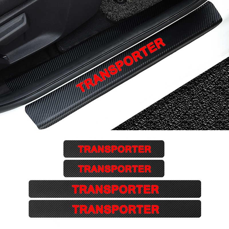 4 шт. автомобильные накладки для порогов автомобиля Наклейка для Volkswagen Transporter эмблема