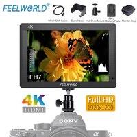 Feelworld FH7 7IPS 4K HDMI DSLR Camera Field Monitor Full HD 1920x1200 LCD External Display for Canon Sony Nikon Etc Stablizer