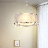 Современный подвесной светильник круглый для Спальня Гостиная Ткань лампа Тенты висит кулон лампы люстры светильники