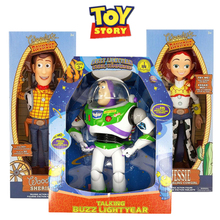 Disney Pixar Toy Story 3 4 30CM Buzz Lightyear Woody Jessie Forky  Action Figure Anime Figure Doll model Toys For Children Gift disney pixar toy story 15 inch talking woody jessie pvc cartoon action figure collectible model toy doll for kids gift with box