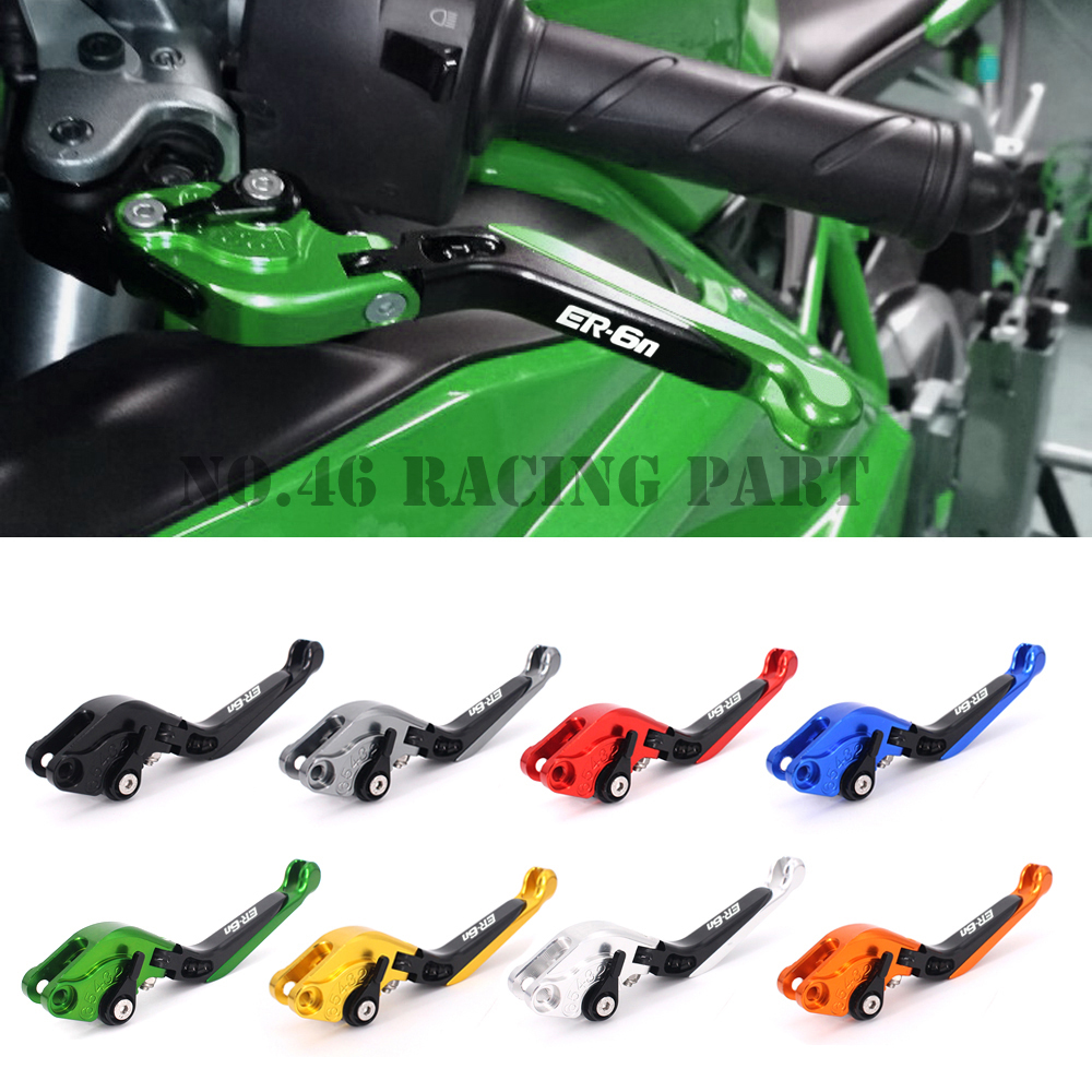 Motorbike Brake /Motorcycle Brakes Clutch Levers For KAWASAKI NINJA ER6N ER 6N ER-6N 2009 2010 2011 2012 2013 2014 2015 2016 8 colors universal for kawasaki ninja 250 2008 2009 2010 2011 2012 motocross clutch brake master cylinder reservoir levers cnc