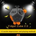 Mais novo Fidget Cube 2 Brinquedos para Menina Meninos Presente de Natal A primeiro Lote da Venda Melhor Presente de Natal Anti Stress Cubo 58*73*78