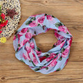 Shocking Show Fashion Women Rose Flower Soft Double Loop Scarf  Wrap