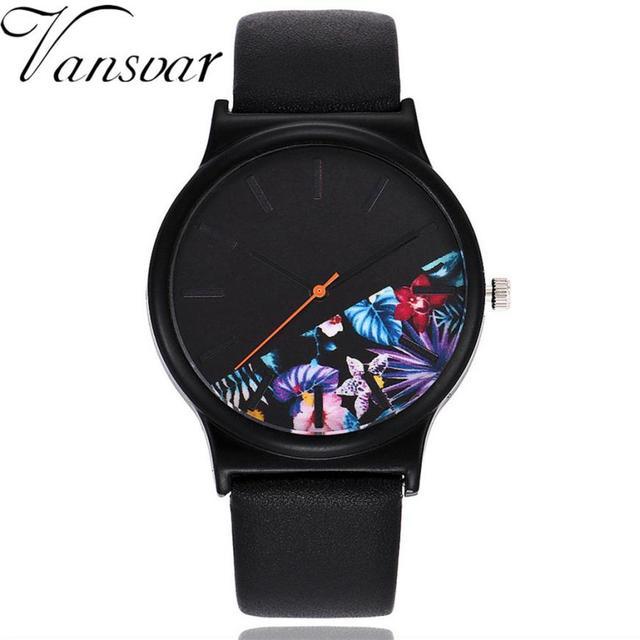 Vansvar  Quartz Wristwatches  Reloj Mujer  Fashion Casual    Women's Watches  Leather  Bracelet Ladies  Analog    Watch 17DEC18