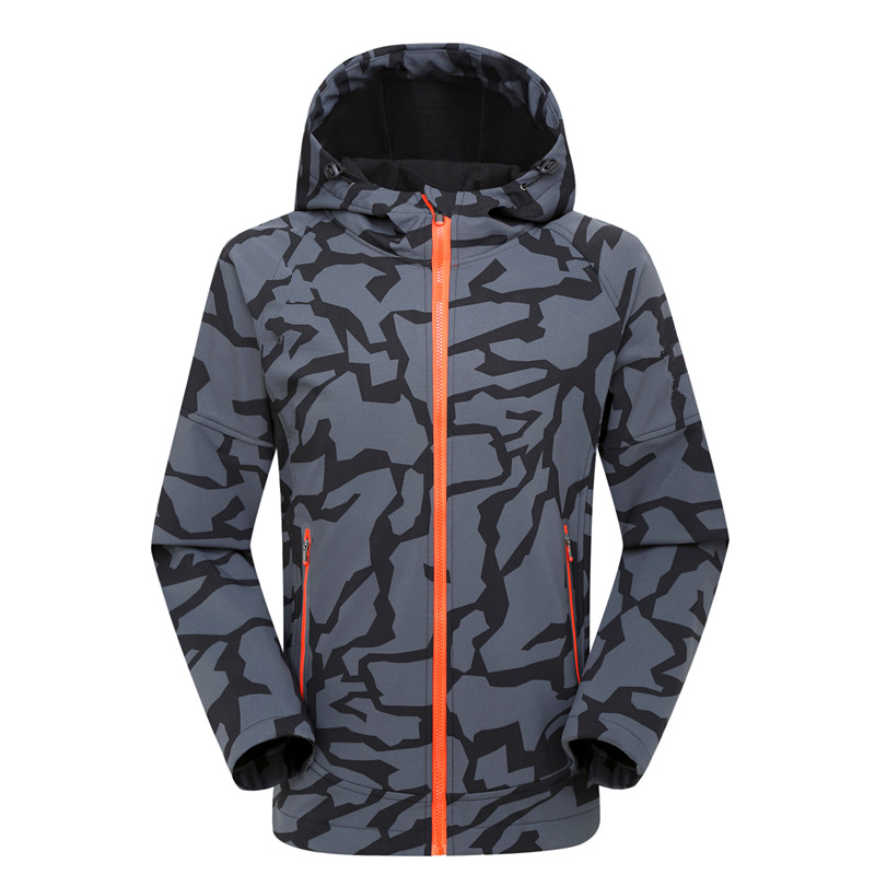ФОТО New Outdoor Jackets Men Camping Hiking Climbing Soft Shell Jacket Camouflage Coats Warm Camo Softshell Tactical Sports Clothes