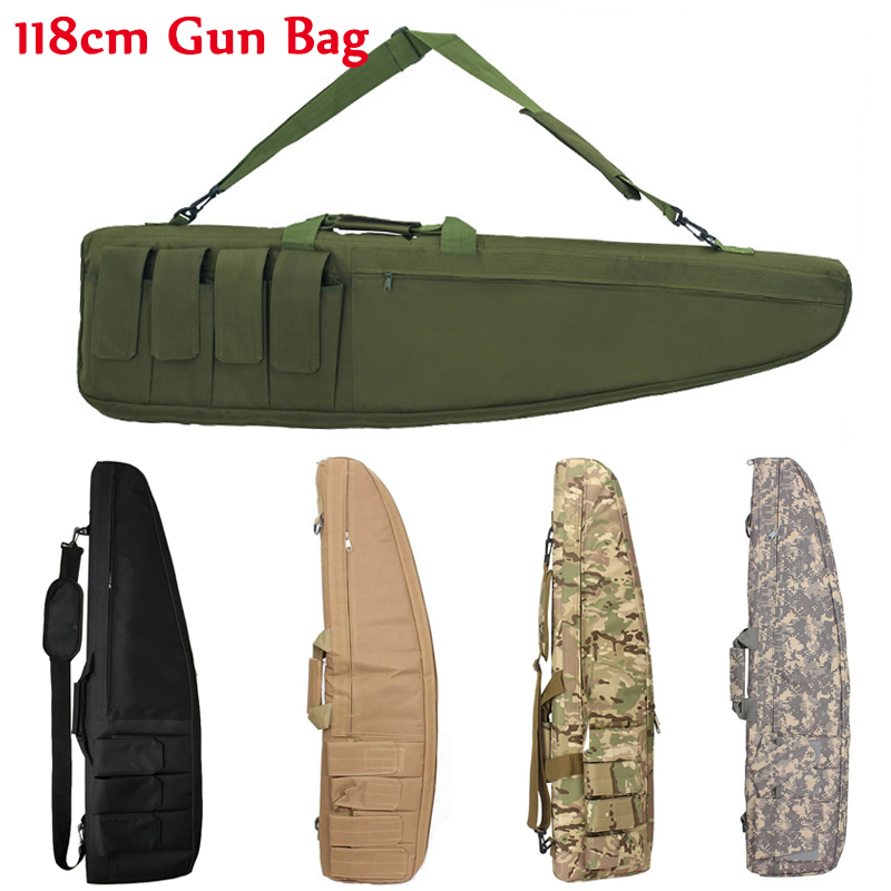 98cm / 118cm Military Shooting Hunting Rifle Bag Sniper Rifle Gun Case Tactical Gun Bag Outdoor Airsoft Bag Heavy Gun Carry Bag-in Holsters from Sports & Entertainment