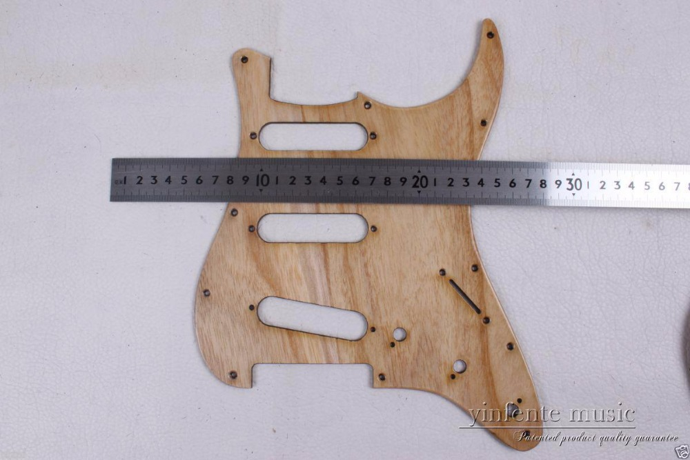 New Electric Guitar Pickguard flame maple wood SSS S trat Guitar parts #1826 554 new flame