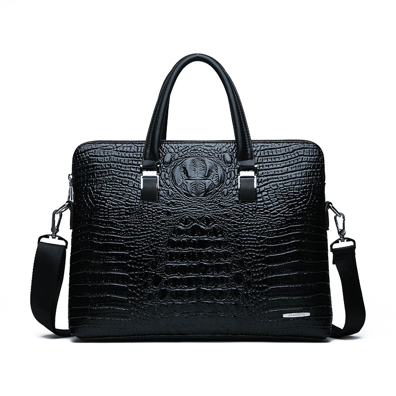 New Luxury Leather Business Men's Briefcase Alligator Male Fashion Shoulder Bag Men Messenger Bag Boy Casual Tote Computer Bag
