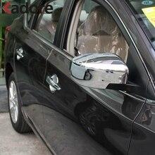Для Nissan Versa Sedan 2012- хромированная крышка зеркала боковой двери отделка зеркала заднего вида крышки Авто внешние аксессуары