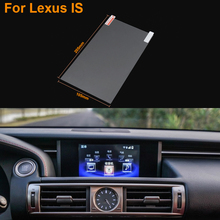 Car Styling 9 Inch GPS Navigation Screen Steel Protective Film For Lexus IS Control of LCD Screen Car Sticker
