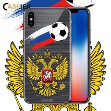 CASEIER Football Phone Case For iPhone 5 5s SE Soccer Soft TPU Cover 6 6s 7 8 Plus Russian Cases Funda Accessories