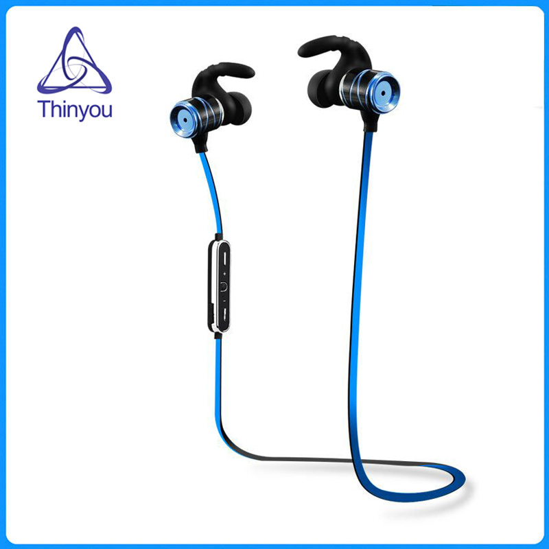 все цены на Thinyou Wireless Professional Sports Bluetooth earphones microphone Earbuds headsets sweat proof music HD stereo Headphone