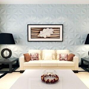 Image 1 - Yazi Stampi di Plastica Forme 3D Decorativi Pannelli di Parete Murales Carta Da Parati per Soggiorno dimensioni 300*300*1.5 millimetri