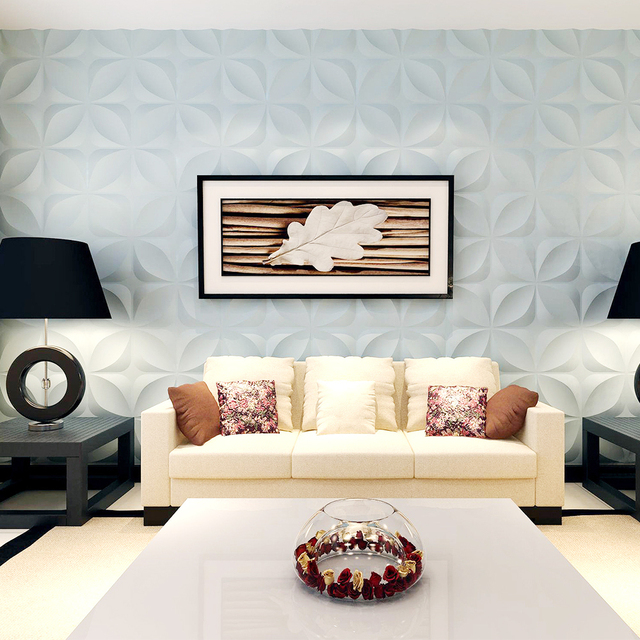 Yazi Stampi di Plastica Forme 3D Decorativi Pannelli di Parete Murales Carta Da Parati per Soggiorno dimensioni 300*300*1.5 millimetri