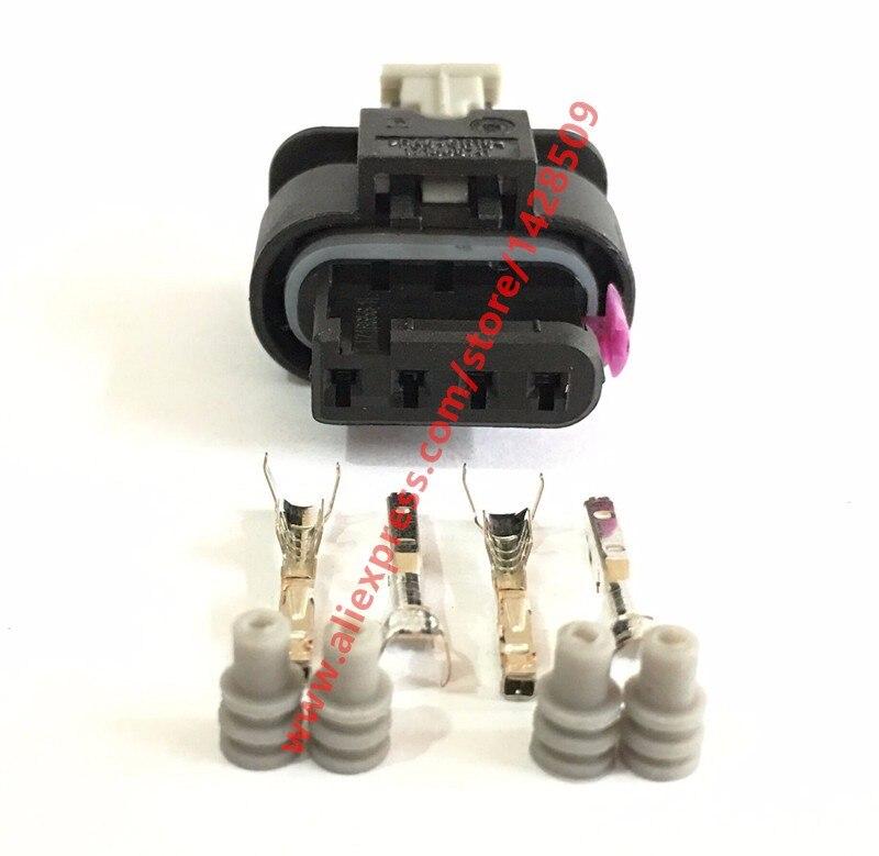20 Sets 4 Pin MAP Sensor Automotive Connector For VW Audi A4 A6L Golf Magotan 4F0