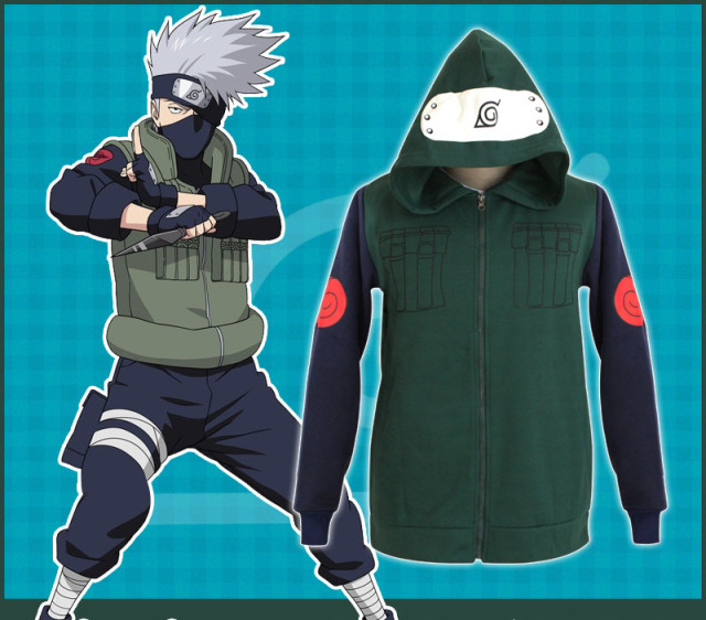 Hatake Kakashi Cosplay Costume Casual Hooded