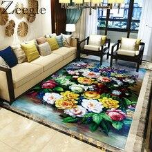 Floral grande alfombra para sala de estar dormitorio sofá mesa de café alfombra de piso de la habitación de los niños cama alfombra hogar Decoración alfombras alfombra Vintage