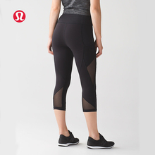 LULULEMON new arrival net yarn breathable high waist yoga pants for women 2 colours KZ0027(China)