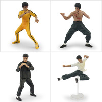 4pcs/set china Kung fu Bruce Lee super star Action Figure Toys Collective Model Toys With Box Gift For Boy Free Shipping