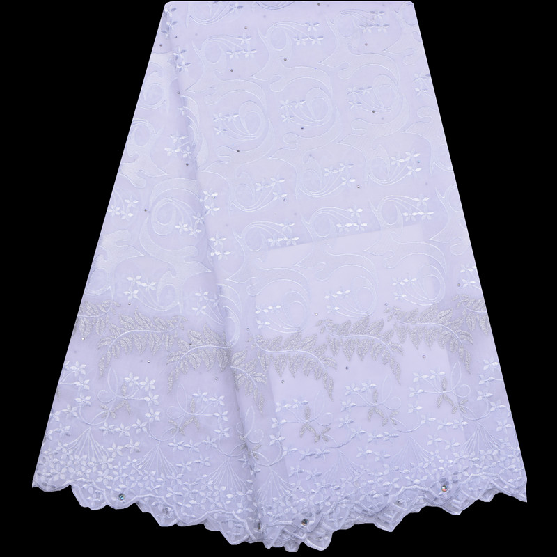 Embroidery White 100 Soft Cotton Voile Lace Swiss Lace Latest High Quality Swiss Voile Laces in