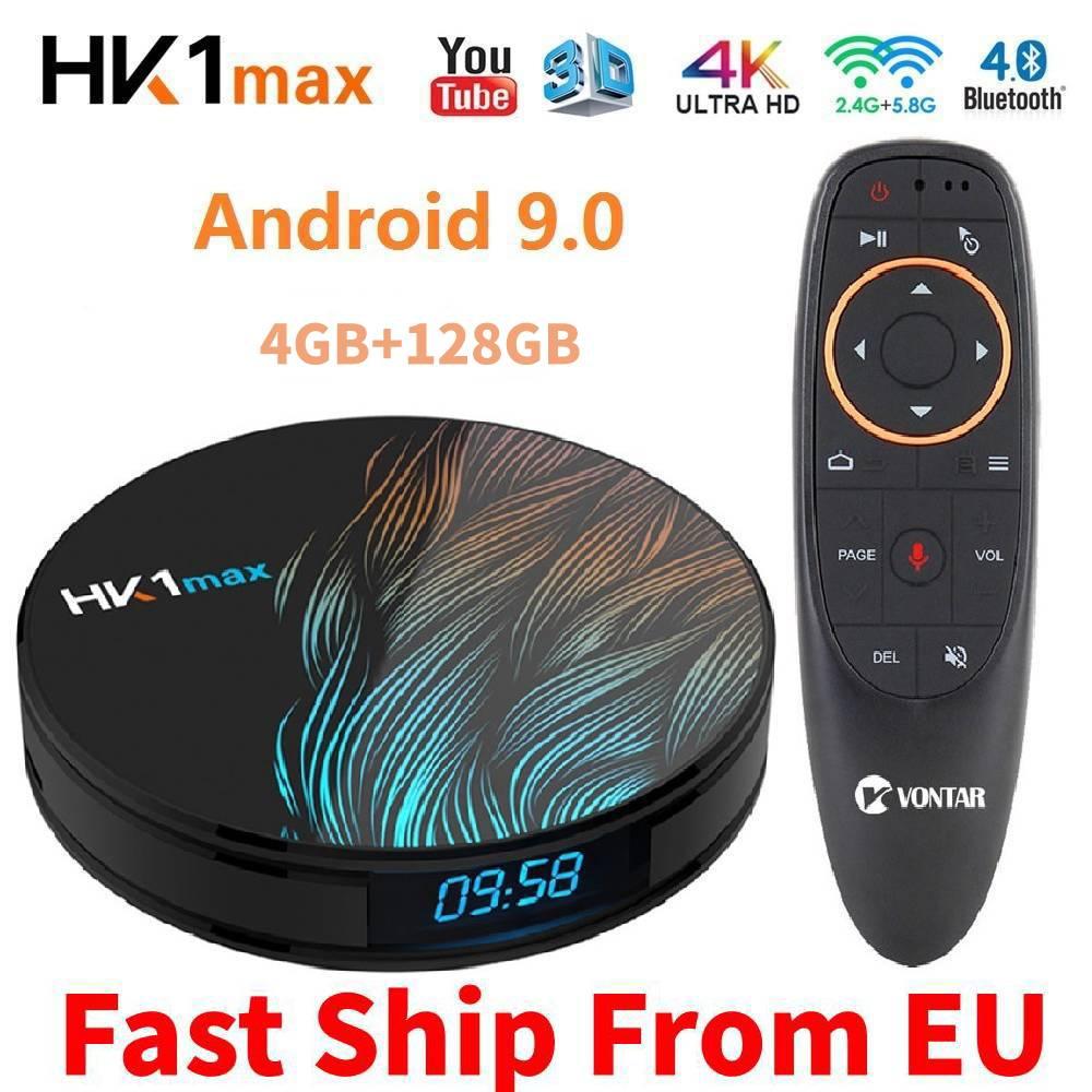 RK3318 4K Smart TV BOX Android 9.0 4GB RAM 64GB ROM 128GB HK1MAX Media Player Google Assistant MiNi Set Top Box HK1 MAX 2G/16G