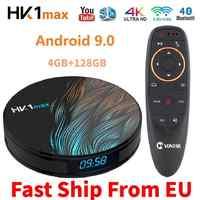 4K Smart TV BOX Rockchip Android 9 0 4GB RAM 128GB HK1MAX Media player  Google Assistant MiNi Set top Box HK1 MAX 2GB 16/32/64GB
