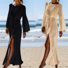 2019 Crochet Tunic Beach Dress Cover-ups Summer Women Beachwear Sexy Hollow Out Knitted Swimsuit Cover Up Robe de plage #Q716