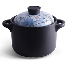 New Arrival Peach Blossom Enameled Ceramic Soup Pots Stewpot Stewing Casserole Big Deal Saucy Cooking Pot Cookware