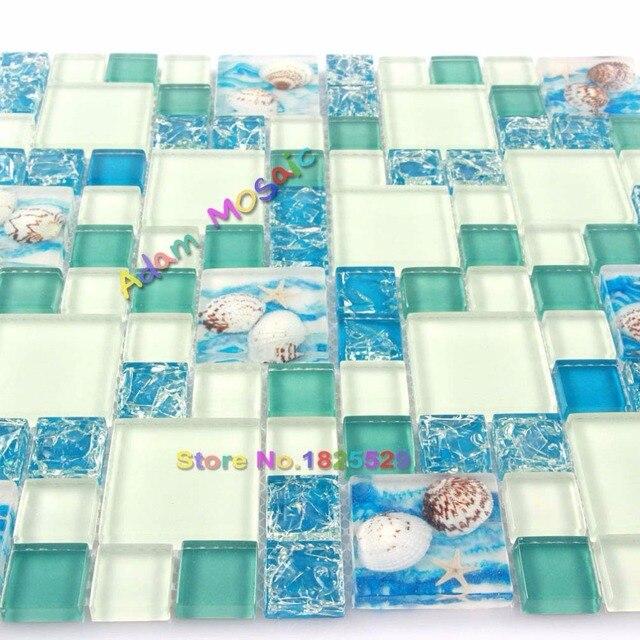 mosaikfliesen wei, fliesen blau wei. glas cinderella blau weiss. kchenlufer kacheln, Design ideen