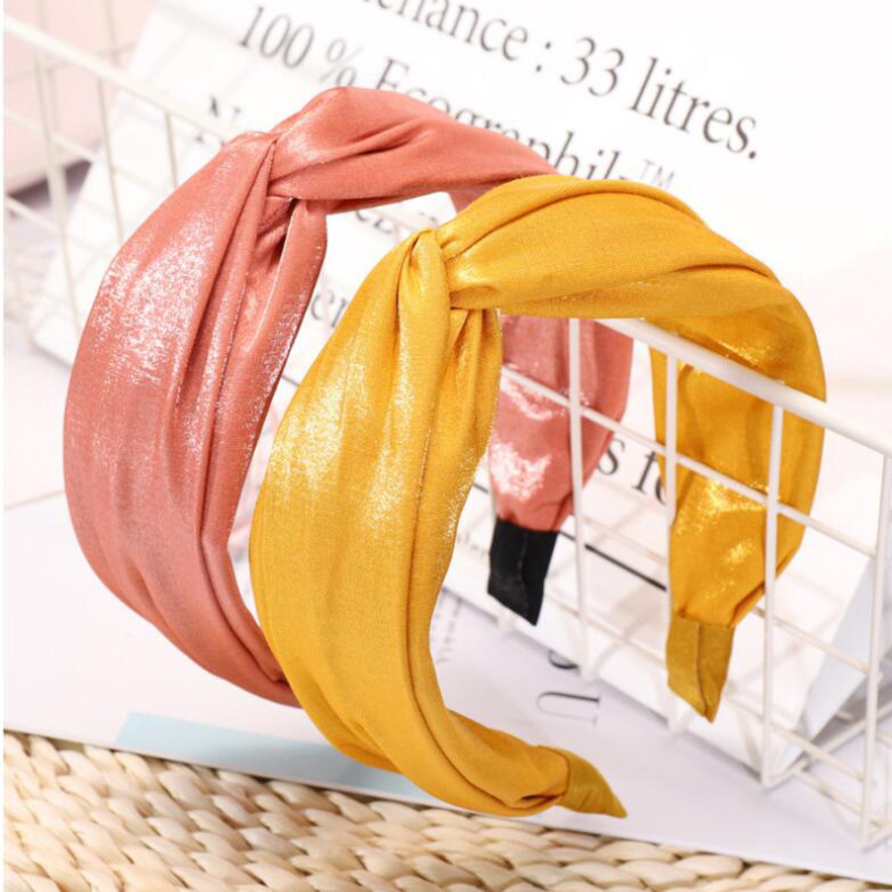 2019 Shining Spring Summer Hairband Solid Vintage Headband Women High Quality Hair Accessories Wholesale Soft Turban   Headwear