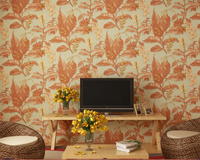 Beibehang Southeast Asian Style Leaf Flower 3D Wallpaper Living Room Bedroom Background walls Wallpaper Roll papel pintado pared