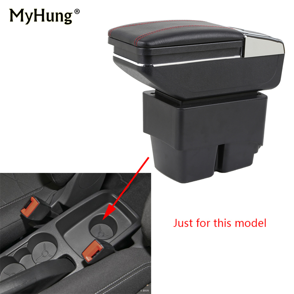 car armrest box For Ford Fiesta 3 MK7 2009-2017 center Storage box cup holder ashtray console armrest interior car styling parts leather car interior parts center console armrest box for mg3 2011 2012 2013 2014auto armrests with usb cup holder free shipping
