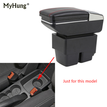 car armrest box For Ford Fiesta 3 MK7 2009-2017 center Storage cup holder ashtray console interior styling parts
