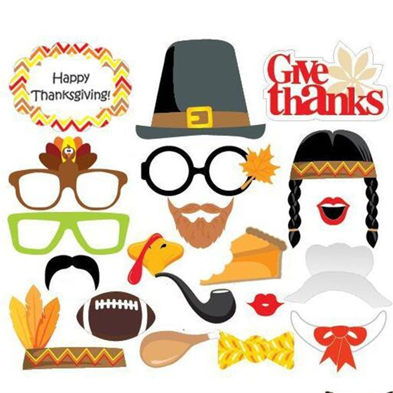Happy Thanksgiving Turkey Photo Prop USA Thanks Giving Party Decorations