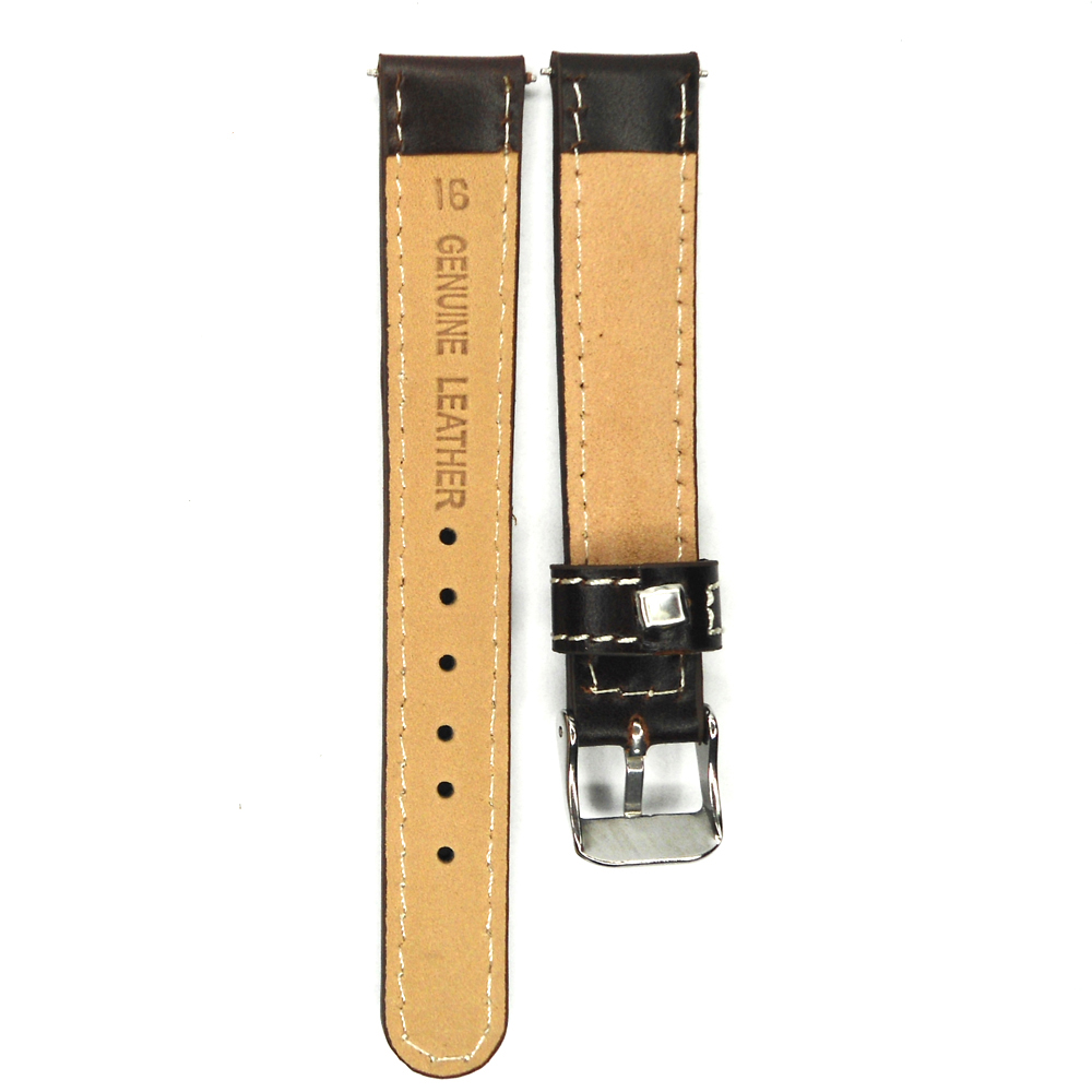 192066a8c02 12mm 14mm 16mm Italian Oil Leather Watch Band Dark Brown Watchband Genuine  Leather Strap For Hour Belt Watches Vintage-in Watchbands from Watches on  ...