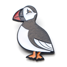 K50 Cute Puffin Sea bird Metal Enamel Pins and Brooches for Women Men Lapel pin backpack badge Gifts puffin peter