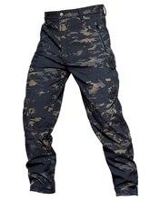 MEGE 소프트 쉘 전술 위장 바지 남자 전투 방수 군사 카고 따뜻한 양털 카모 겨울 따뜻한 육군 Modis 바지