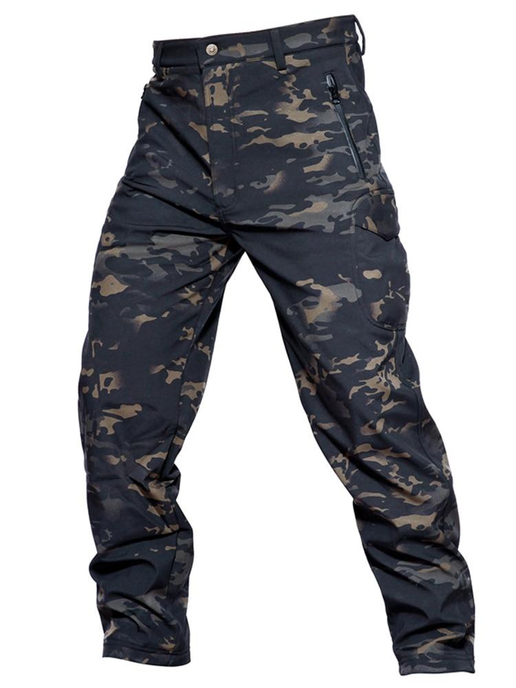 5cf04484de8 Cheap MEGE Soft Shell pantalones de camuflaje táctico de combate de hombres  a prueba de agua