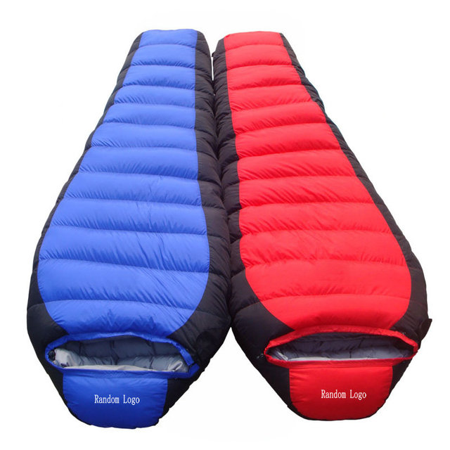 Mountain Winter Down Sleeping Bag -10 Degree 1.7 KG Ultralight Portable Mummy Sleeping Bag For Outdoor Camping Hiking Traveling