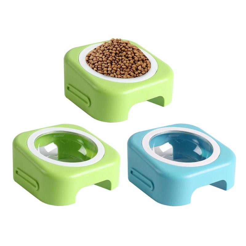 Dog Feeding Temperate Pet Tilted Inclined Bowl Adjustable Angle Feeder Drinking Cat Dog Food Dish Dual-use Feeding Dish Pet Supplies For Cats Dogs Bright In Colour