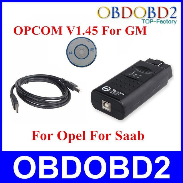 Авто Сканер OBDII OBD2 Диагностический Интерфейс OP-COM V1.45 Op com Для Opel интерфейс OP COM Can Bus Для GM Для Opel Серии SAAB