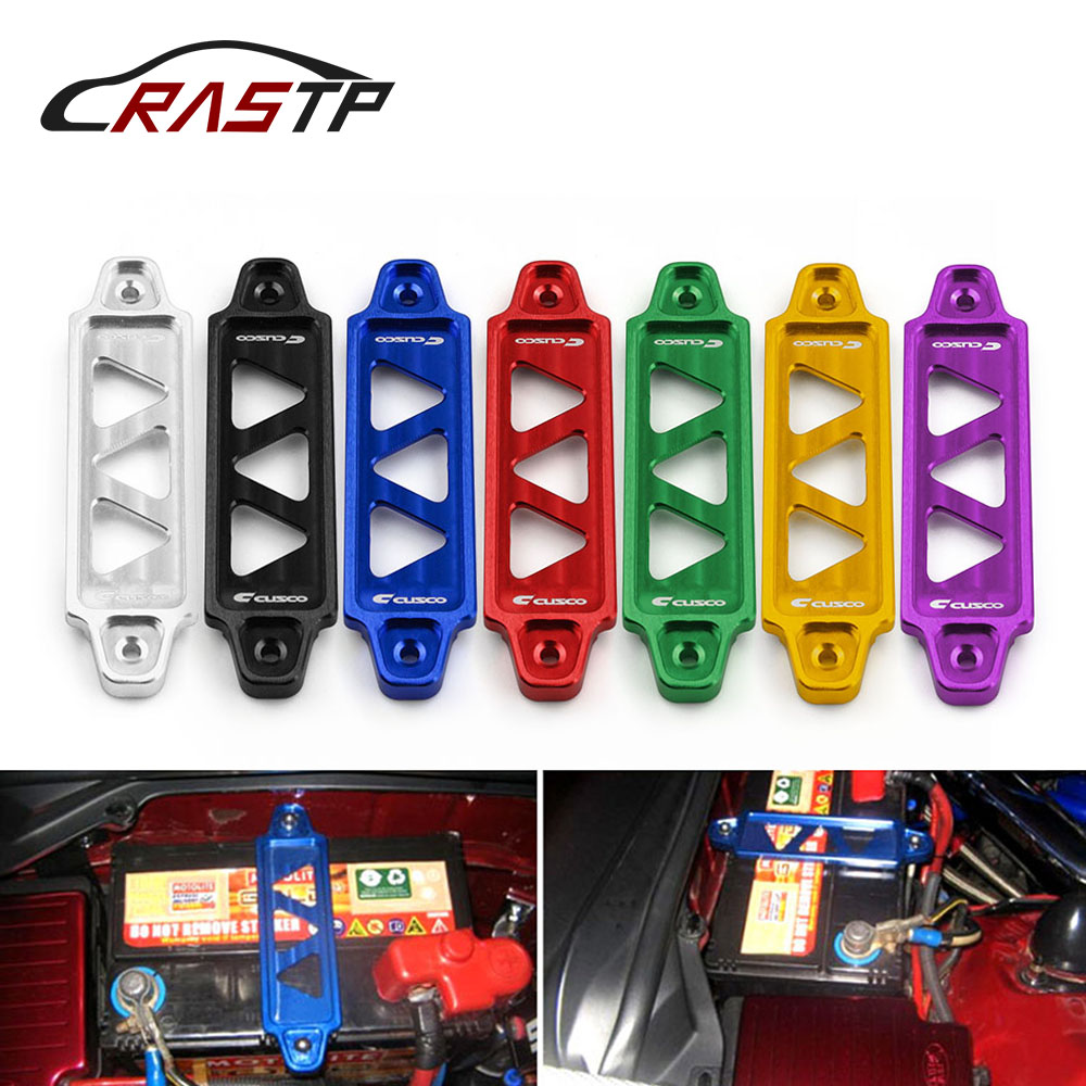 RASTP Cusco Racing Aluminum Billet Battery Tie Down For